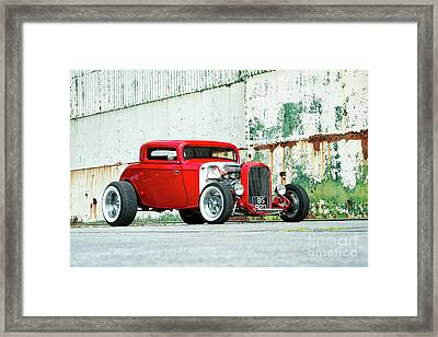 Red Rod Framed Print by Tim Gainey