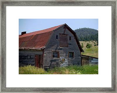 Red Roof Barn Framed Print