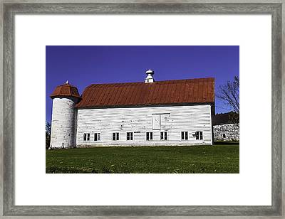Red Roof Barn Vermont Framed Print by Garry Gay