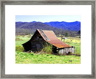 Red Roof Framed Print by Glenda Barrett