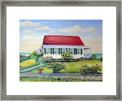 Framed Print featuring the painting Red Roof Inn by Patricia Piffath