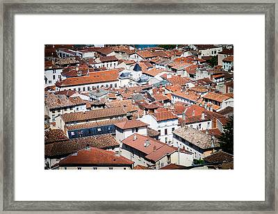 Framed Print featuring the photograph Red Roof by Jason Smith