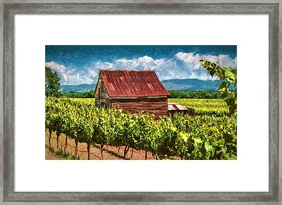 Red Roof Framed Print by John K Woodruff