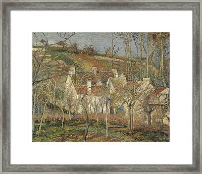 Red Roofs, Corner Of A Village, Winter Framed Print by Camille Pissarro