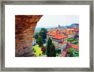 Red Roofs Framed Print by Jeff Kolker