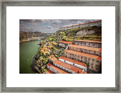 Red Roofs Of Porto Framed Print by Carol Japp