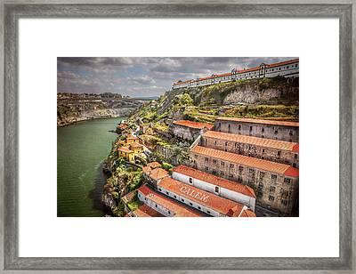 Red Roofs Of Porto Framed Print by Carol Japp