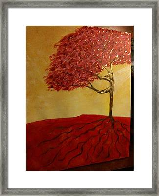 Red Rooted Tree Dancer Framed Print by Nora Sorensen