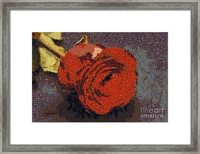 Red Rose Abstract Framed Print by Shirley Stalter