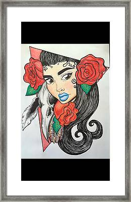 Red Rose Framed Print by Morgan Grade