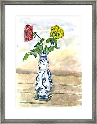 Red Rose Yellow Rose Framed Print
