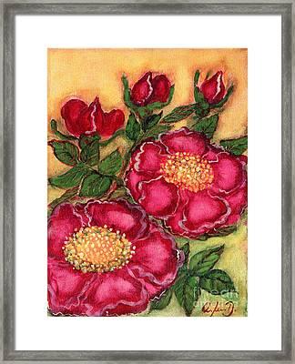 Red Roses Framed Print by Anna Folkartanna Maciejewska-Dyba