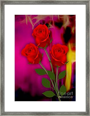 Red Roses Collection Framed Print by Marvin Blaine