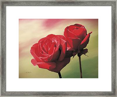 Red Roses Framed Print by Jan Baughman