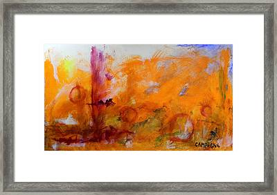 Red Rounds Framed Print