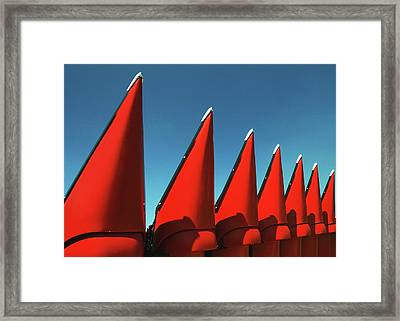 Red Row Framed Print