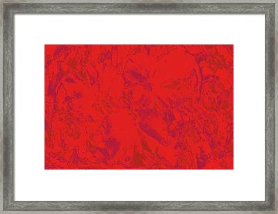 Framed Print featuring the photograph Red Rules by Nareeta Martin
