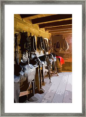 Red Saddle Blanket Framed Print