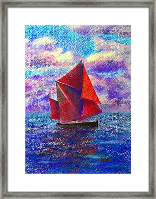 Red Sails Framed Print by Anastasia Michaels