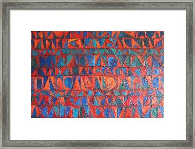 Framed Print featuring the painting Red Sails At Sunset by Bernard Goodman
