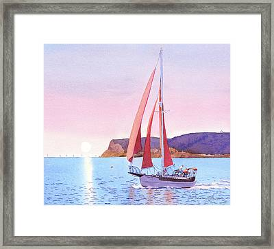 Red Sails In The Sunset Pt Loma Framed Print