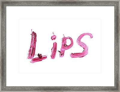 Red Sample Makeup On A White Background. Framed Print by Serhii Holenko