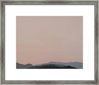 Red San Jacintos Framed Print by Stan  Magnan