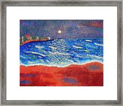 Red Sands Of Havana Framed Print