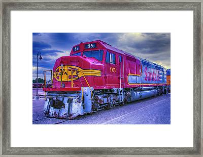 Red Santa Fe 95 Framed Print by Garry Gay