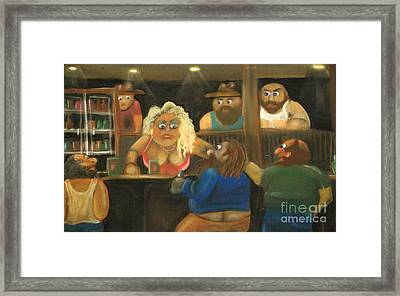 Red Says The Wrong Thing Framed Print by Caroline Peacock