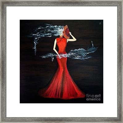 Scented Red Color Framed Print by Fei A