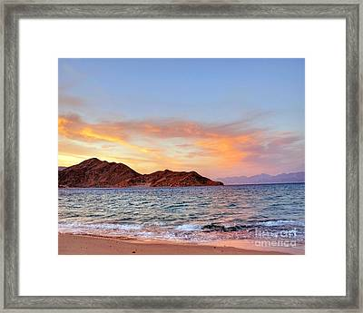 Red Sea Sunset On The Egyptian Coast Framed Print by Chris Smith