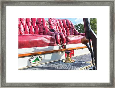 Red Seats To Ride In Framed Print