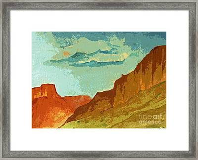 Red Sedona Framed Print
