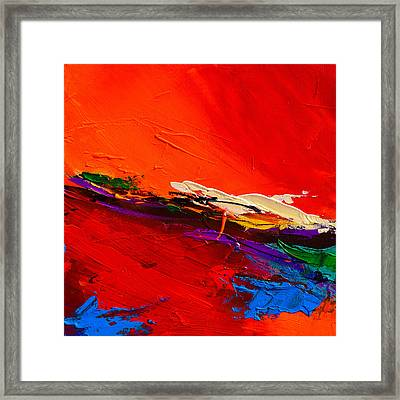 Framed Print featuring the painting Red Sensations by Elise Palmigiani