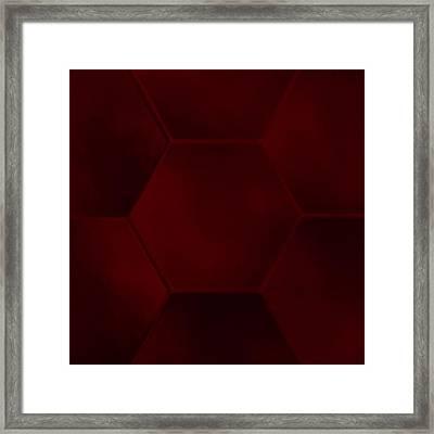 Red Sexagon Framed Print by Jouko Mikkola