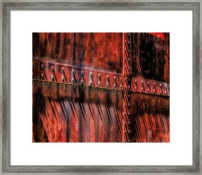 Framed Print featuring the photograph Red Shadows by James Barber