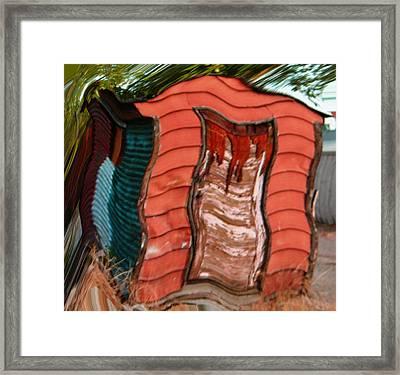 Red Shed Framed Print