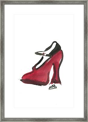 Red Shoe Framed Print