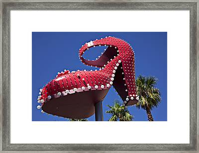 Red Shoe High Heels Framed Print by Garry Gay
