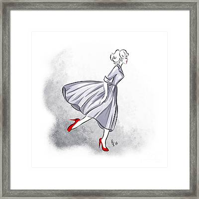 Red Shoes Red Lips Framed Print