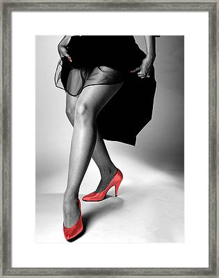 Red Shoes Framed Print by Jerry Taliaferro