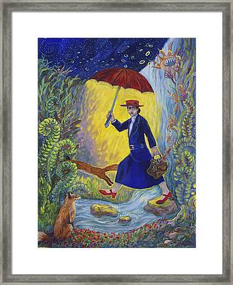 Red Shoes Mary Poppins Framed Print