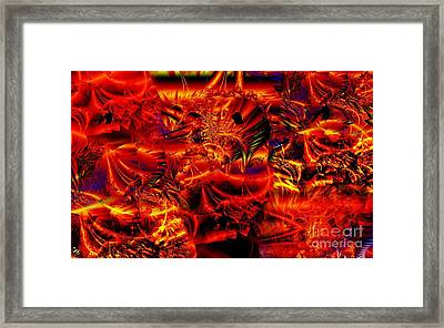 Red Shred Framed Print by Ron Bissett