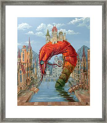 Red Shrimp Framed Print