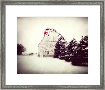 Red Silo Framed Print by Julie Hamilton