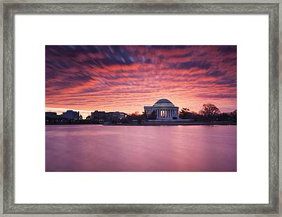 Framed Print featuring the photograph Red Skies At Dawn by Edward Kreis
