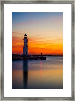 Red Skies At Night Framed Print