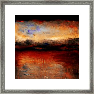 Red Skies At Night Framed Print by Michelle Calkins