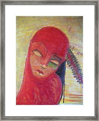 Red Skin Framed Print by Erika Brown